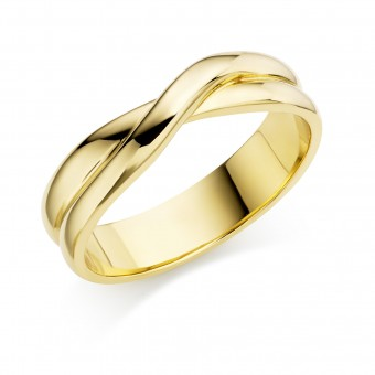 18ct yellow gold 5mm Rosalia wedding ring