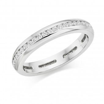 Platinum Alexandra round cut diamond full eternity ring 0.48cts