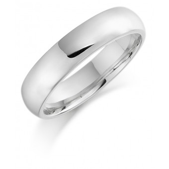 Platinum 5mm Oxford wedding ring