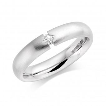 Platinum 4mm Melita diamond wedding ring 0.06cts