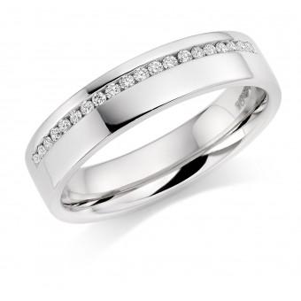 Platinum 4.5mm Aida diamond wedding ring 0.10cts