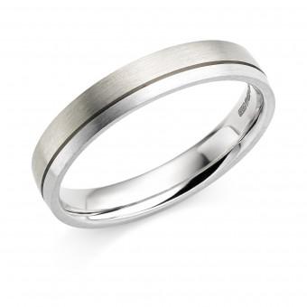 Platinum & 18ct white gold 4mm Zaira wedding ring