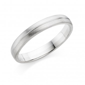 Platinum & 18ct white gold 3.5mm Ysabelle wedding ring