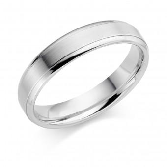 Platinum 5mm Verdi wedding ring