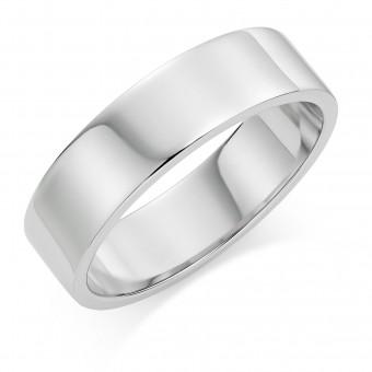 Platinum 6mm Windsor wedding ring
