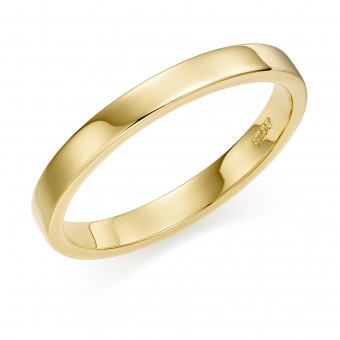 18ct yellow gold 3mm Windsor wedding ring