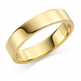 18ct yellow gold 5mm Windsor wedding ring