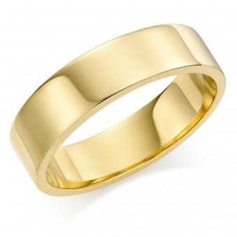 18ct yellow gold 6mm Windsor wedding ring