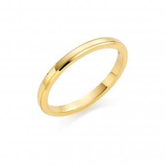 18ct yellow gold 2mm New Windsor wedding ring