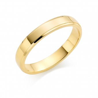 18ct yellow gold 4mm New Windsor wedding ring