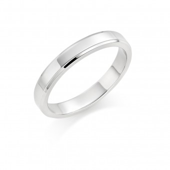 Platinum 3mm New Windsor  wedding ring