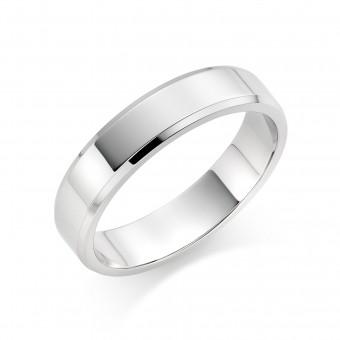 Platinum 5mm New Windsor wedding ring