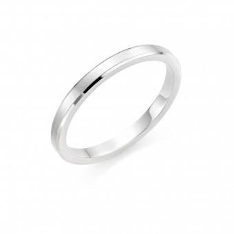 Platinum brushed finish 2mm New Windsor  wedding ring