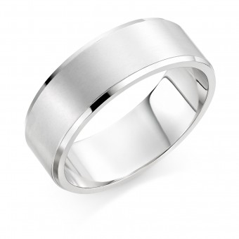 Platinum brushed finish 8mm New Windsor  wedding ring