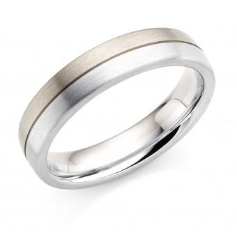Platinum & 18ct white gold 5mm Ysabelle wedding ring
