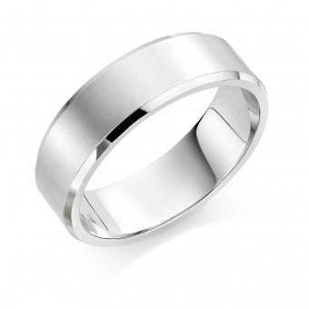 Platinum brushed finish 7mm New Windsor  wedding ring