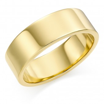 18ct yellow gold 7mm Windsor wedding ring