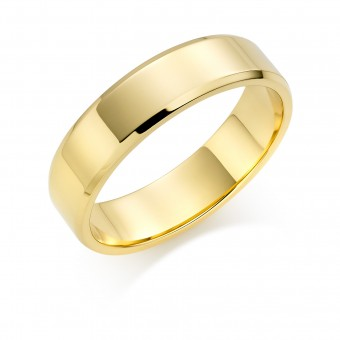 18ct yellow gold 6mm New Windsor wedding ring