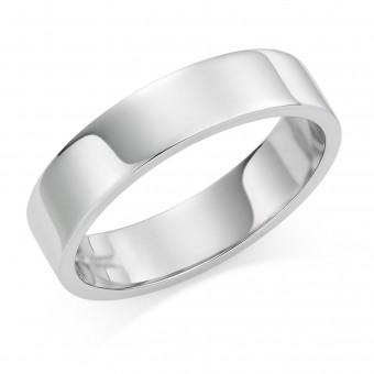 Platinum 5mm Windsor wedding ring