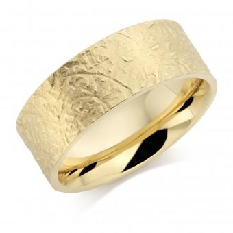 18ct yellow gold 8mm Seria wedding ring