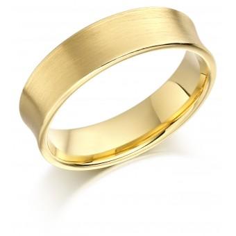 18ct yellow gold 6mm Catarine wedding ring