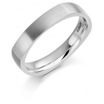 Platinum 4mm Bona wedding ring