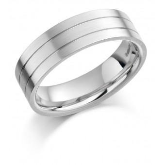 Platinum 6.5mm Constanza wedding ring