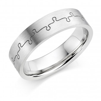 Platinum 6mm Nicci wedding ring