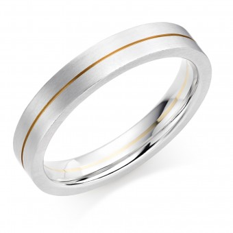 Platinum & 18ct red gold 4mm Serena wedding ring