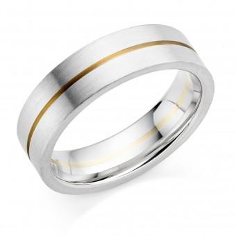 Platinum & 18ct red gold 6mm Serena wedding ring
