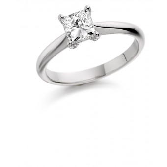 Platinum Elda princess cut diamond solitaire ring 0.41cts