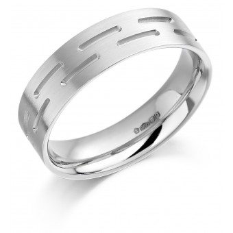 Platinum 6mm Donya wedding ring