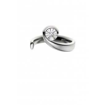 Platinum Wave Iceflower cut diamond solitaire ring 0.32cts