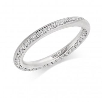 Platinum 2.5mm Stella diamond wedding ring 0.50cts