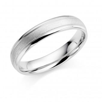 Platinum 4.5mm Abrienne wedding ring