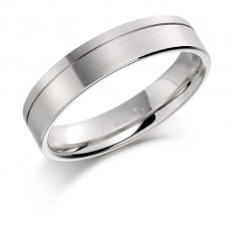 Platinum 5mm Valeria wedding ring