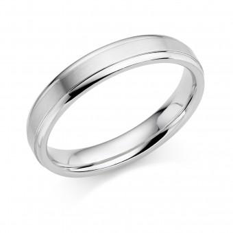 Platinum 4mm Verdi wedding ring