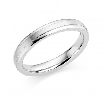 Platinum 3mm Verdi wedding ring