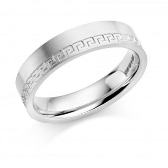 Platinum 5mm Benigna wedding ring