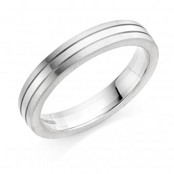 Platinum & 18ct white gold 4mm Mara wedding ring