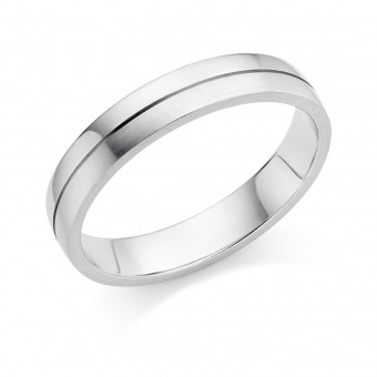 Platinum 4mm Ysabelle wedding ring