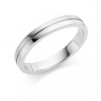 Platinum 3mm Ysabelle wedding ring