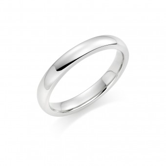 Platinum 3mm Oxford wedding ring