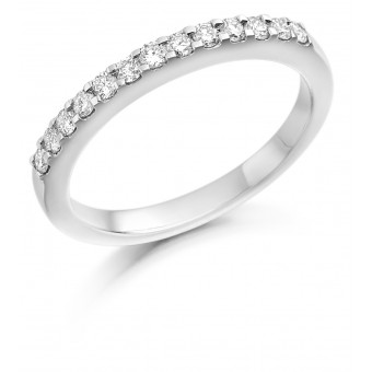Platinum Chiara round cut diamond half eternity ring 0.28cts