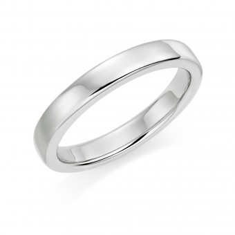 Platinum 3mm Eton wedding ring.