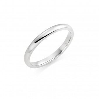 Platinum 2mm Oxford wedding ring