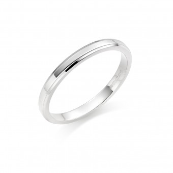 Platinum 2mm New Windsor wedding ring
