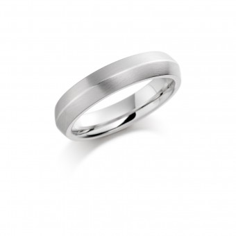 Platinum 5mm Teresa wedding ring