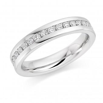 Platinum 4mm Angelia diamond wedding ring 0.36cts