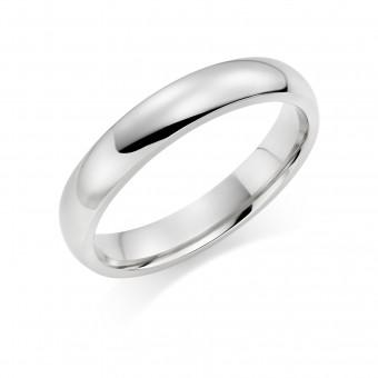 Platinum 3.5mm Oxford wedding ring